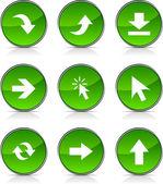 Pijlen pictogrammen. — Stockvector