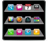 ícones quadrada alta detalhado. — Vetorial Stock