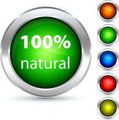 Botón natural. — Vector de stock