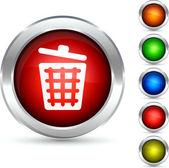 Dustbin button. — Stock Vector