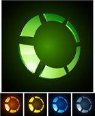 3d vibrant ring emblems. — Stock Vector