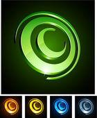 Cirkel pulserande emblem. — Stockvektor