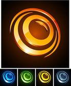 3d round emblems. — Stock Vector