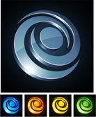 Swirl vibrant emblems. — Stock Vector