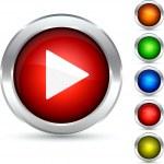 Play button. — Stock Vector