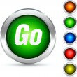 Go button. — Stock Vector