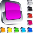 Square 3d buttons. - Stock Vector