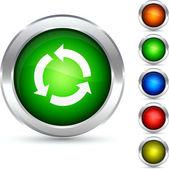 Recycle button. — Stock Vector