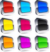 Square 3d buttons. — Stok Vektör