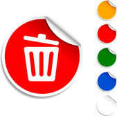 Recycle bin icon. — Stock Vector