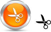 Scissors button. — Stock Vector