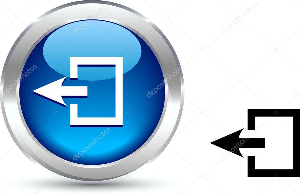 退出按钮 — 图库矢量图像08