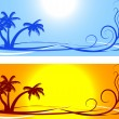 Stock Vector: Summer backgrounds.