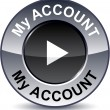 My account round button. — Stockvectorbeeld