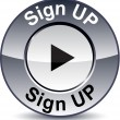 Sign up round button. — Imagen vectorial