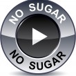 No sugar round button. — Stock Vector