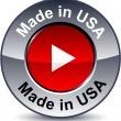 Made in USA round button. — Stockvector