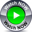 Watch now round button. — Stock Vector