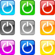 Power buttons. — Stock Vector