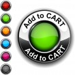 Add to cart button. - 图库矢量图片