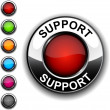 Royalty-Free Stock Vector Image: Support button.