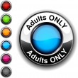 Stock Vector: Adults only button.