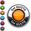 Get quote button. — Stock Vector