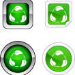 Recycle button set. — Stock Vector