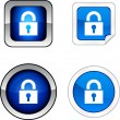 Padlock button set. — Stock Vector #5308717