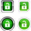Padlock  button set. — Stock Vector