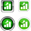 Stock Vector: Growth button set.