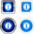 Info  button set. — Stock Vector