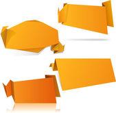 Sfondi di origami arancione. — Vettoriale Stock
