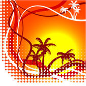 Summer background. — Stock Vector