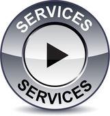 Services round button. — Stock Vector