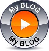 My blog round button. — Stock Vector