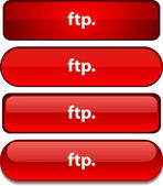 FTP button set. — Stock Vector