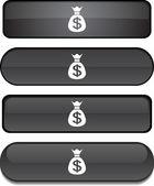 Money button set. — Stock Vector