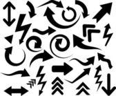 Black arrows. — Stock Vector