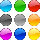 Web düğmeleri. — Stok Vektör