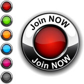 Join now button. — Stock Vector