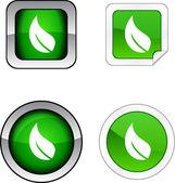 Ecology button set. — Stock Vector