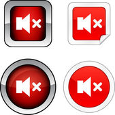 Mute button set. — Stock Vector