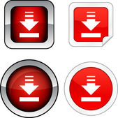 Download button set. — Stock Vector