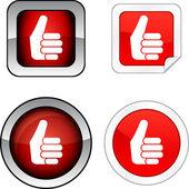 良いボタン セット. — ストックベクタ