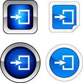 Entrance button set. — Stock Vector