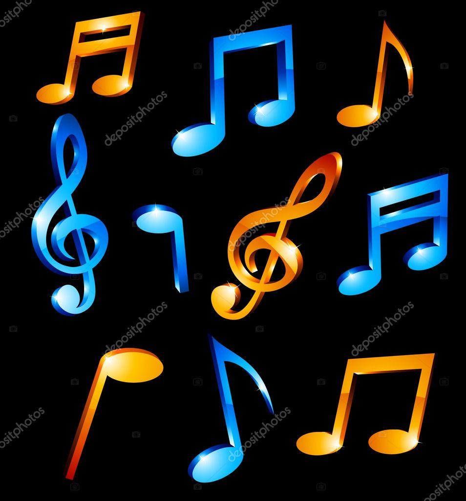 Music tones. — Stock Vector © Maxborovkov #5301853
