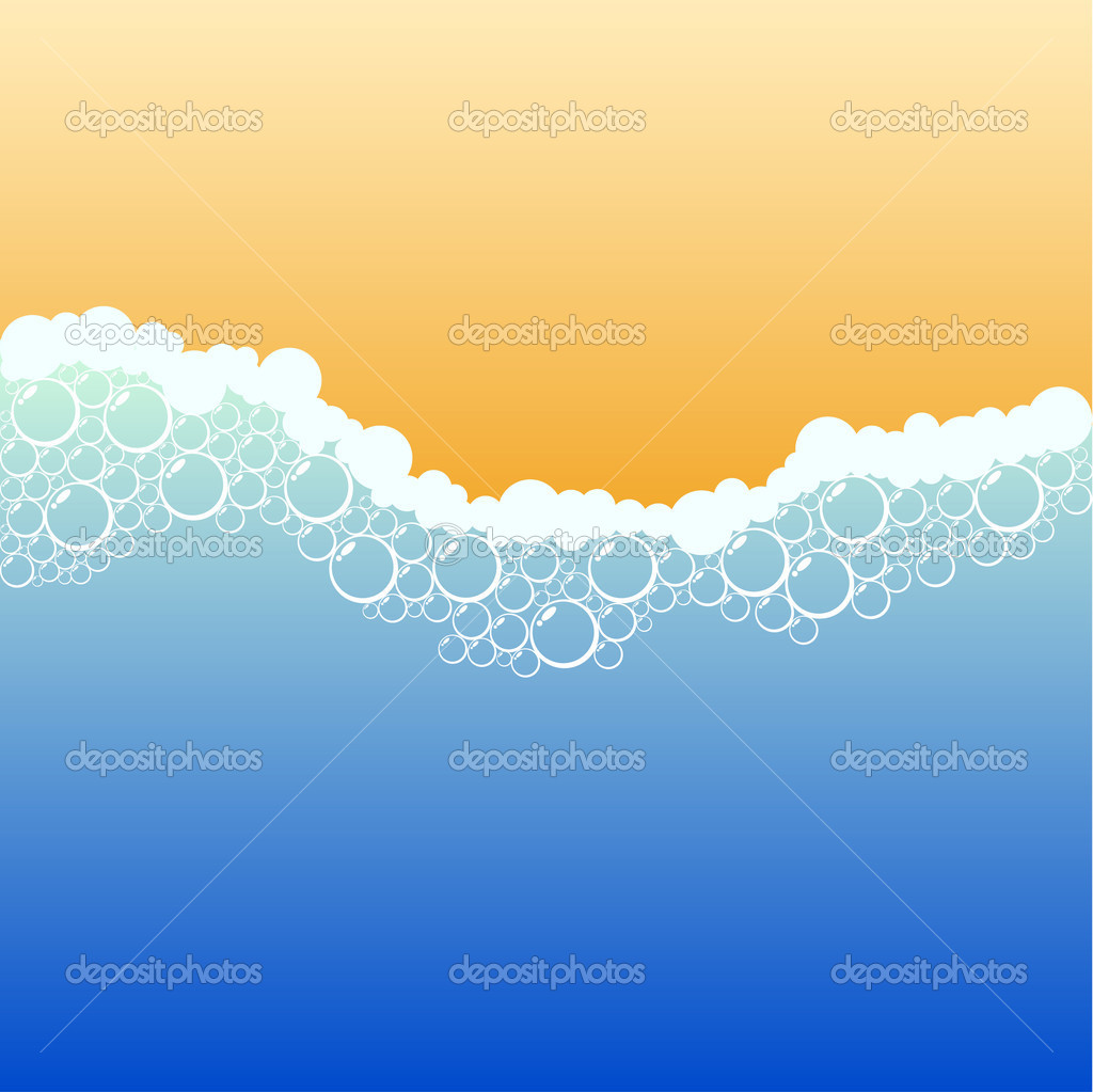 Coastline with foam. Vector illustration. — Stock Vector #5301873