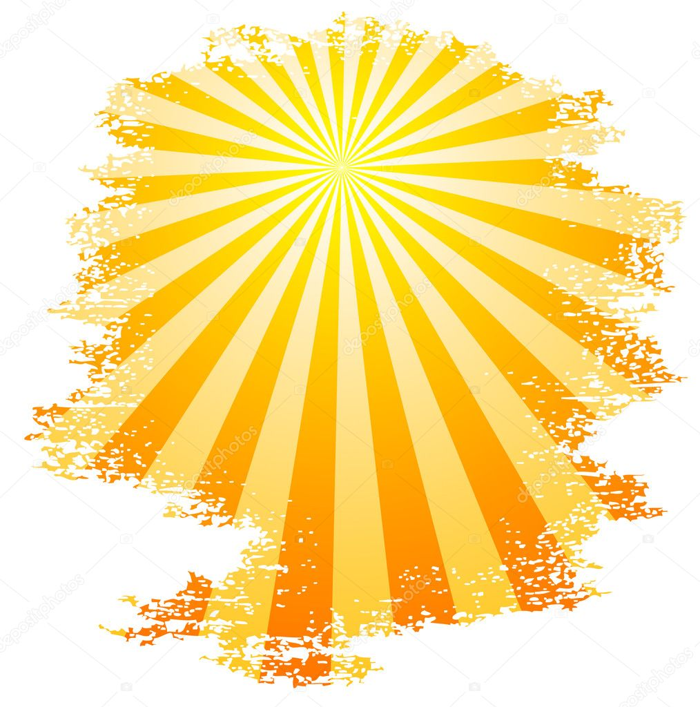 Sun and sunbeams. Vector illustration. — Stock Vector #5302147