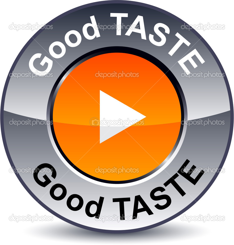Good taste round metallic button. Vector. — Stock Vector #5306559